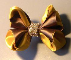 Lindo laço de fitas,dupla cores Passo a Passo -satin ribbon bow