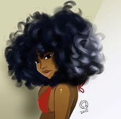 Imagem relacionada the hair is everything Black Girl Art, Black Women Art, Black Girls Rock, Black Girl Magic, Art Girl, Art Women, African American Art, African Art, African Beauty