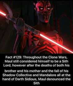 """That's why in Twilight of the Apprentice, he says, """"The Sith took everything from me."""""""