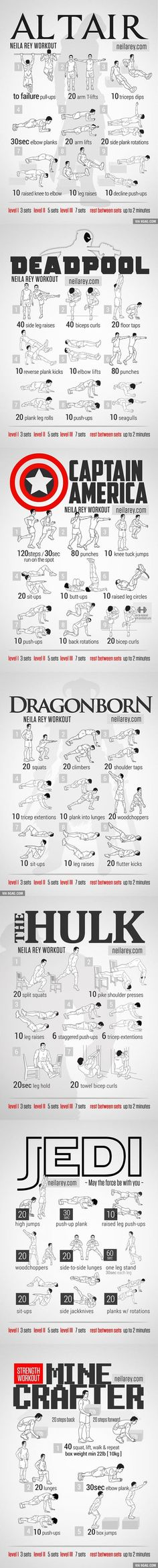 Some proper workout schemes