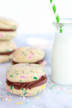 Funfetti Cookies from Scratch | Cookie Sandwich | Sprinkles | Dessert