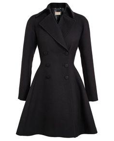AZZEDINE ALAÏA   Tailored Crepe Wool Princess Coat   Browns fashion & designer clothes & clothing