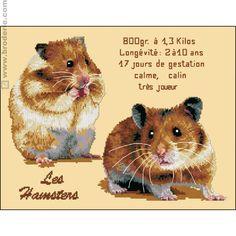 Les hamsters cross stitch kit