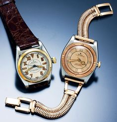 "Rolex Bubblebacks - one with a ""California Dial"""