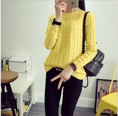 UVKKC Women Sweater Pullovers Fashion Casual Long Sleeve O-neck Twist Knitted Christmas Sweter Casacos Femininos Sweter Damski