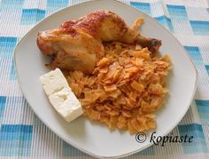 hilopites with chicken