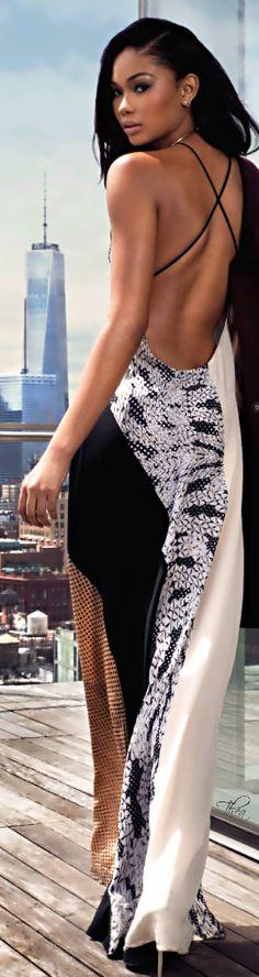 Elle Malaysia July 2014 ● Chanel Iman in Fendi