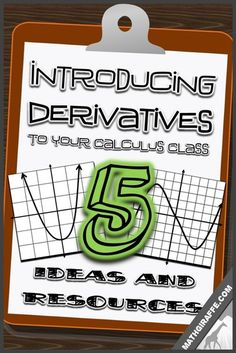 Teaching Derivatives in High School Calculus - ideas to change it up and engage your students