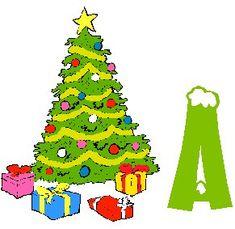 Alfabeto navideño árbol con regalos. | Oh my Alfabetos!