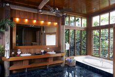 Namale The Fiji Islands Resort & Spa - Savusavu, North Islands, Fiji - Luxury Hotel Vacation from Classic Vacations Fiji Island Resorts, Fiji Islands, Spa Offers, Thatched Roof, Tropical Landscaping, Wood Interiors, Luxury Villa, Resort Spa, Bathroom Inspiration
