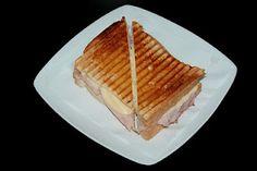 Tosta Mista em pão caseiro por terras de cavaleiros- Portuguese cheese and ham sandwich.