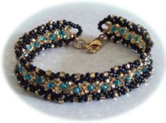 Another free project by Beading Arts ~ WovenBracelet
