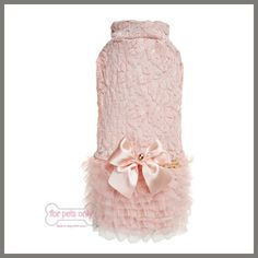 FOR PETS ONLY ROSE GOLD DRESS PINK