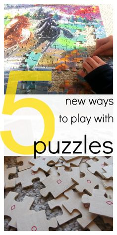 5 cool new ways to play with puzzles (yes, the ones you already have!) #weteach