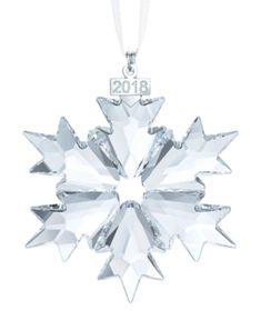 54909d904 Swarovski 2018 Annual Edition Christmas Ornament - White Snowflake Ornaments,  Lenox Ornaments, Crystal Snowflakes