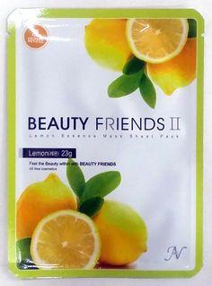 레몬마스크팩(Lemon)  비타민C 함유량이 많은 레몬 추출물이 함유되어 촉촉하고 보습력을 부여하고 피부를 싱그럽게 도와줍니다.