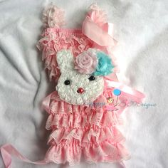 Pink Easter outfit Easter Bunny outfit  Bunny by HappyBOWtique, $35.95