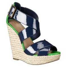Teresa espadrille in navy and green from #Target