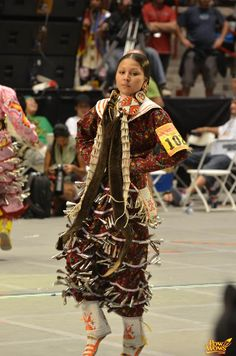 Beautiful jingle dress dancer