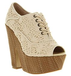 Summer lace in this beautiful wedge shoe. Love the peep toe too!