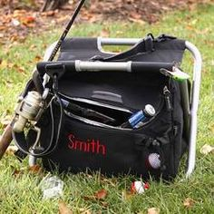 Personalized Fishing and Camping Cooler Chair, got great reviews.