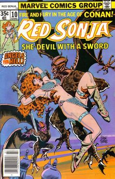 Drawing Marvel Comics Lot of 6 Marvel Feature presents Red Sonja She-Devil with a Sword VG Condition! Red Sonja, Indrajal Comics, Conan Comics, Marvel Comic Books, Comic Books Art, Comic Art, Book Art, Character Drawing, Comic Character