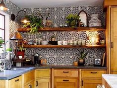 home accents on a budget This apartment and DIY home decor is perfecting for decorating your kitchen or bathroom on a budget. These cheap adhesive tile wall stickers are trending! Home Decor Hacks, Home Decor Trends, Cheap Home Decor, Diy Home Decor, Decor Ideas, Budget Bathroom, Bathroom Sets, Mexican Style Decor, Shabby Chic Vintage