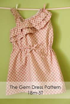 Girl's Dress PDF Sewing Pattern  The Gem One by Brynnberlee, $7.00