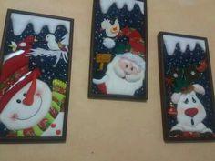 Christmas Items, Ideas Para, Diy And Crafts, Merry, Valencia, Diy Christmas Ornaments, Patchwork Embutido, Christmas Quilting, Christmas Cushions