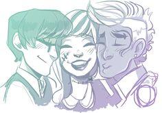 Frankie, jackson, and holt.... Love triangle-ish?
