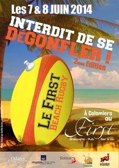 First Beach Rugby. Du 7 au 8 juin 2014 à colomiers.