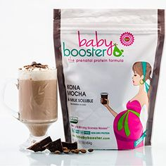 Prenatal Vitamin Supplement Shake - Baby Booster Kona Mocha - bag - OBGYN Approved - All Natural - Tastes Great - Vegetarian DHA - High Protein - Folic Acid - - Great for Morning Sickness Nutrition Shakes, Proper Nutrition, Pregnancy Smoothies, Best Protein Powder, Pregnancy Nutrition, Protein Shakes, High Protein, Prenatal Vitamins, Protein Supplements