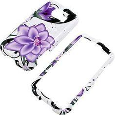 Violet Lily Protector Case for LG Optimus V