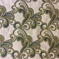 M9393 Lagoon Woven Floral Upholstery Fabric by Barrow Merrimac
