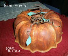 Painted Bundt Pan Punkin'