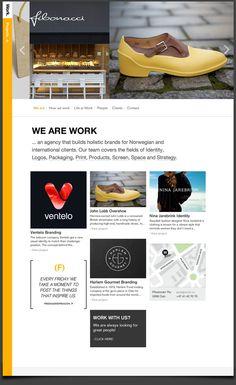 Work agency site by Unfold , via Behance
