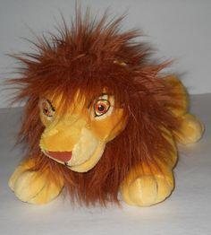 """Disney MUFASA SIMBA Small 10"""" THE LION KING Plush Stuffed Animal Puppet Sewn Eye #Disney"""
