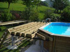 En été quand il fait chaud il n'y a rien de mieux qu'un rafraîchissement,alors j'ai mis une piscine Mais avant ce résultat il faut partir du début donc choisir l'endroit Ensuite creuser pour mettre un dalle de 25 cm d'épaisseur Un coffrage avec des planches...