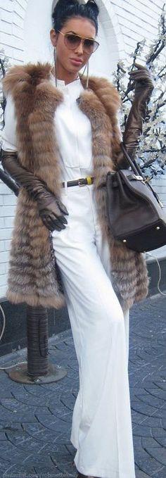 Olesya Malinskaya, White n Fur