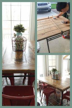 DIY IKEA Industrial Farmhouse Table Hack