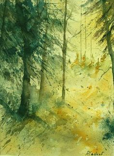 "Saatchi Online Artist Pol Ledent; Painting, ""watercolor 030106"" #art"