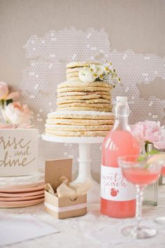 """A wedding """"cake"""" made out of pancakes?! Awesome idea!"""