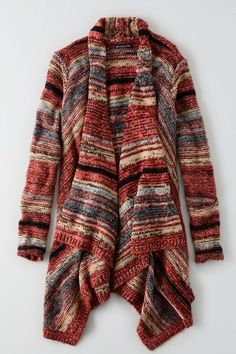 American Eagle Outfitters AEO Space Dyed Open Cardigan