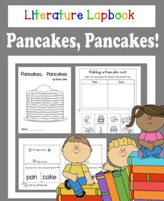A fun way for young students to interact with Literature. This activity is easy to prepare just print and go.  Based on the book Pancakes, Pancakes by Eric Carle