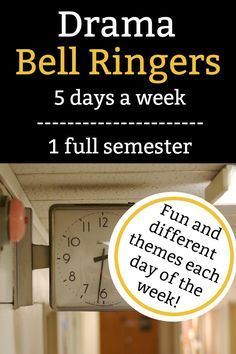 In this item you will find ALL 5 DAYS worth of bell ringers that will cover over one whole semester of bell ringers! Typically semesters are 18 weeks long, but in this item each bell ringer includes 25 WEEKS worth of content, so you can pick and choose the content you think your students will find the most interesting! Drama Activities, Drama Games, Classroom Activities, Teaching Theatre, Teaching Tips, Theatre Games, Teaching Themes, Drama Teacher, Drama Class