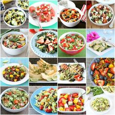 20 Summer Salad Recipes on twopeasandtheirpod.com Love all of these healthy salad recipes! #salad #summer