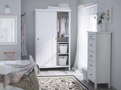 HEMNES garderobekast | #IKEA #IKEAnl #slaapkamer #wit #landelijk #inspiratie