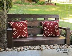 Hometalk :: With a few boards of wood I created the perfect spot to hang out with…