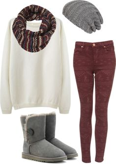 .out of all the winter outfits I love this one the most!!!!! ♥