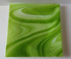 Handmade Fused Glass DishServing Dish Green and by Smokeylady54